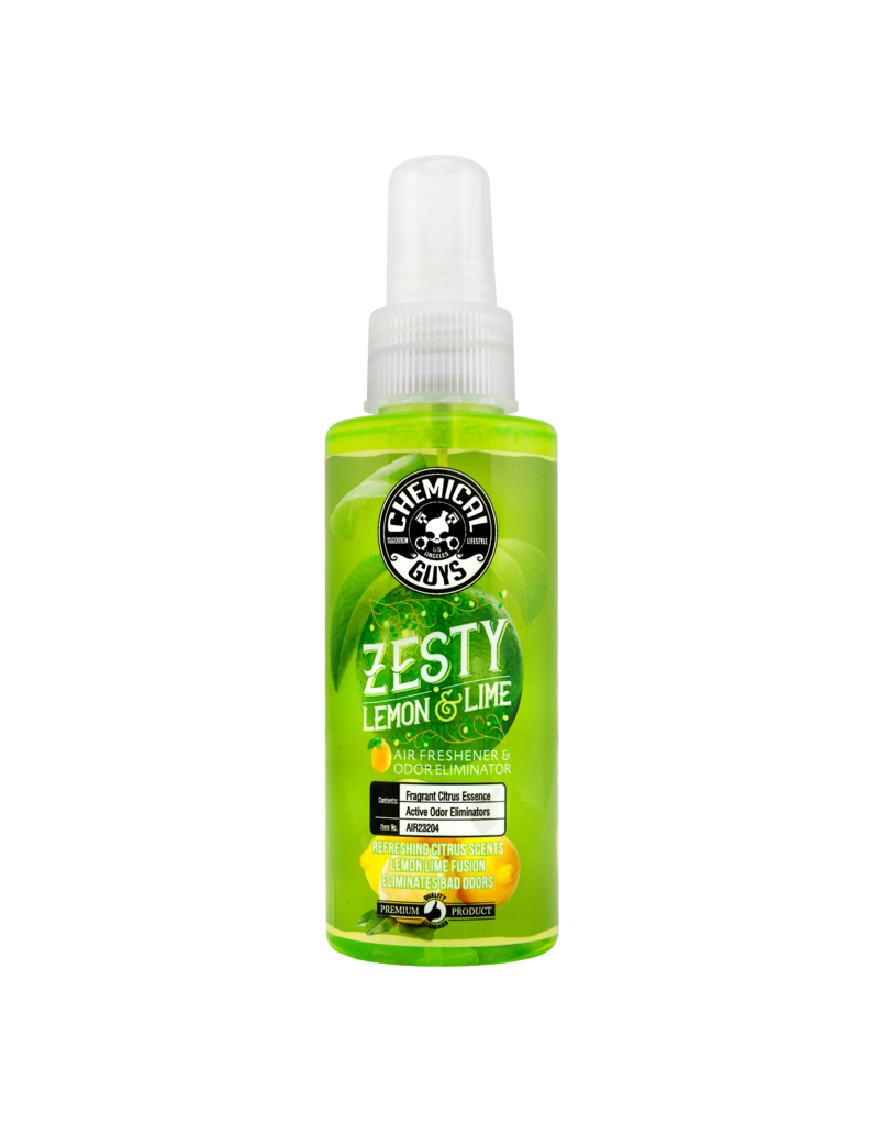 Chemical Guys AIR23204 Zesty Lemon and Lime Air Freshener and Odor Eliminator, 4 fl. oz