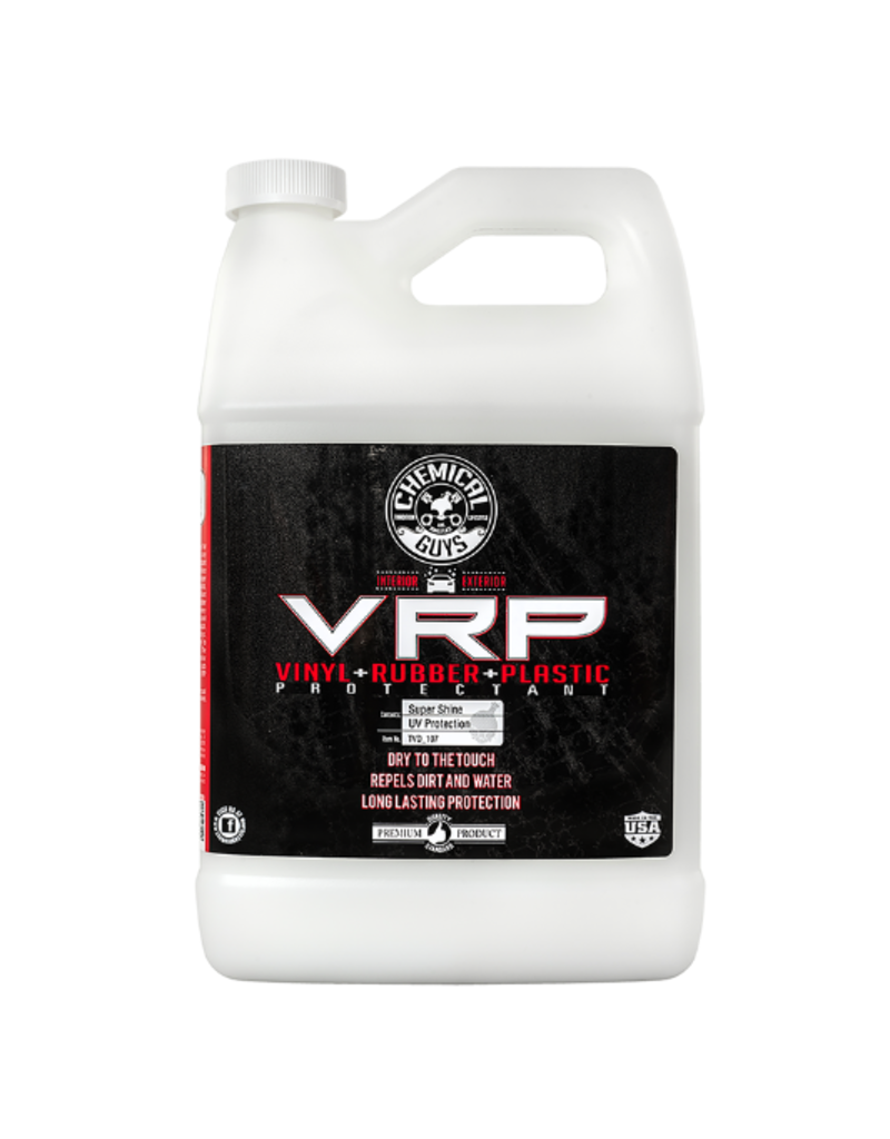 Chemical Guys Extreme V.R.P. Dressing 2 Long Lasting Super Shine 100% Dry To Touch Vinyl, Rubber -Tire & Plastic Restorer+Protectant (1 Gal)
