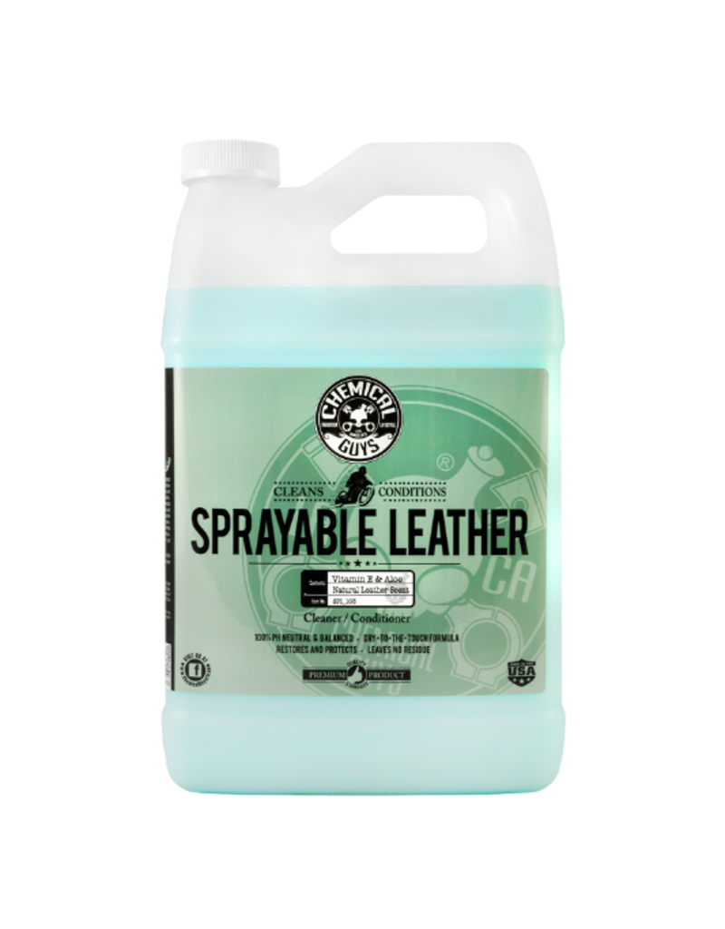 Chemical Guys Sprayable Leather Conditioner & Cleaner In One Ph Balance w/ Vitamin E & Aloe (1 Gal)