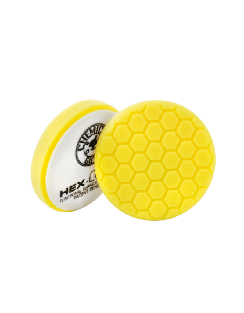 "Hex-Logic BUFX_101HEX5 5.5"" Hex-Logic Pad - Yellow  5.5 ""  Cutting/Compounding Pad- Chemical Guys Premium Pads (5.5""Inch)"