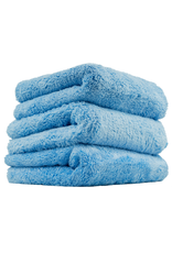 Chemical Guys Happy Ending Edgeless Microfiber Towel, Blue (3 Pack)
