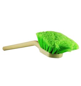 "Chemical Guys 20"" Angled Head Body & Wheel Brush Flagged-Tip Bristles (Green Polystyrene Head-Peach Handle)"