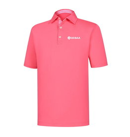 FootJoy FootJoy Lisle Solid Gingham Trim Polo