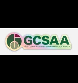 GCSAA Holographic Sticker - Full Logo (Words)