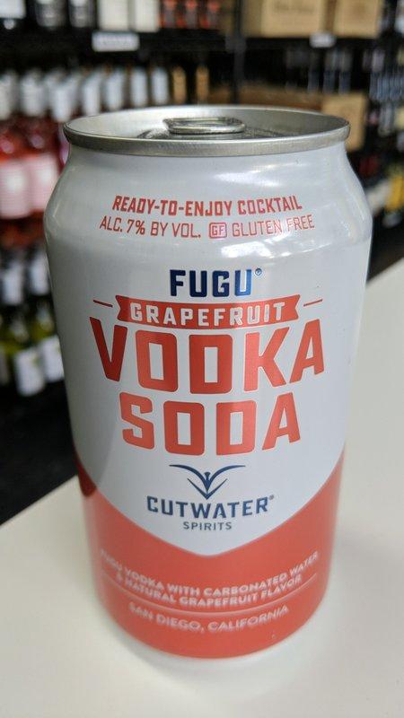 Cutwater Cutwater Fugu Vodka Soda Grapefruit 12oz