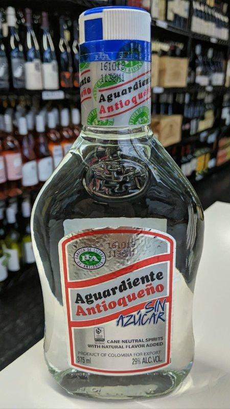 Antioqueno Aguardiente Antioqueño Sin Azucar 375ml