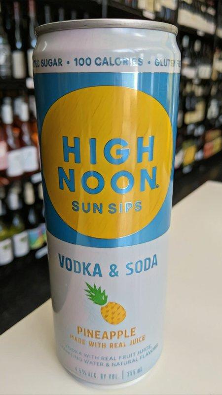 High Noon Sun Sips High Noon Vodka & Soda Pineapple Hard Seltzer 12oz