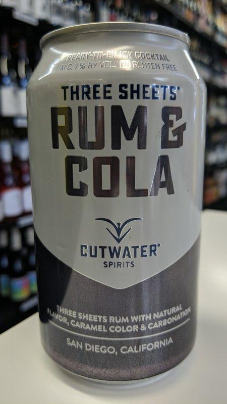 Cutwater Cutwater Rum & Cola 12oz
