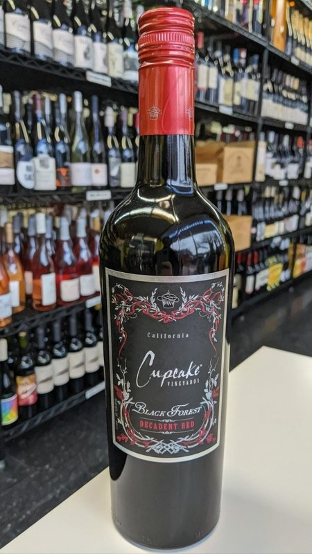 Cupcake Cupcake Black Forest Decadent Red 2018 750ml