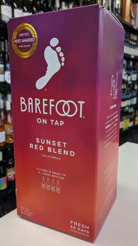 Barefoot Barefoot On Tap Sunset Red Blend NV 3L