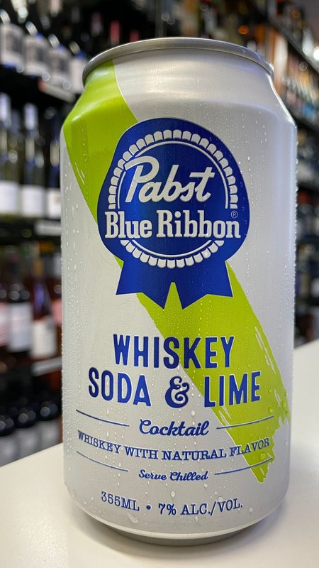 Pabst Blue Ribbon Pabst Blue Ribbon Whiskey Soda & Lime Cocktail 355ml