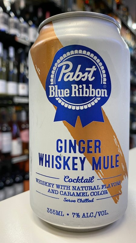 Pabst Blue Ribbon Pabst Blue Ribbon Ginger Whiskey Mule Cocktail 355ml
