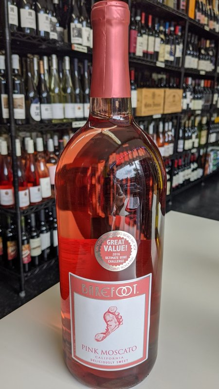 Barefoot Barefoot Pink Moscato NV 1.5L