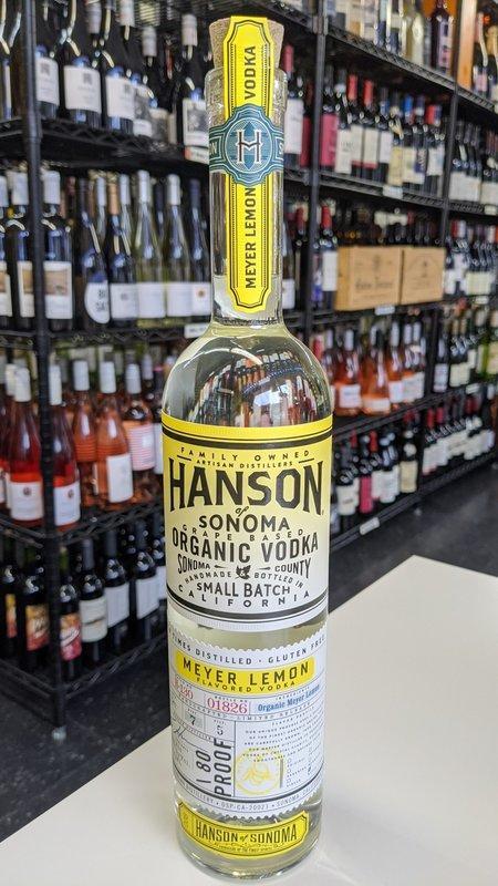 Hanson of Sonoma Hanson of Sonoma Organic Meyer Lemon Vodka 750ml