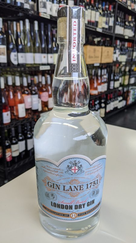 Gin Lane Gin Lane 1751 London Dry Gin 750ml