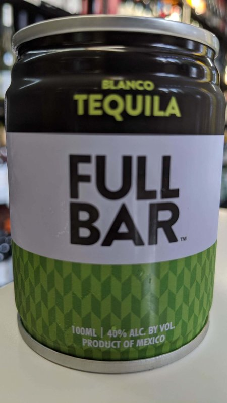 Full Bar Full Bar Blanco Tequila 100ml
