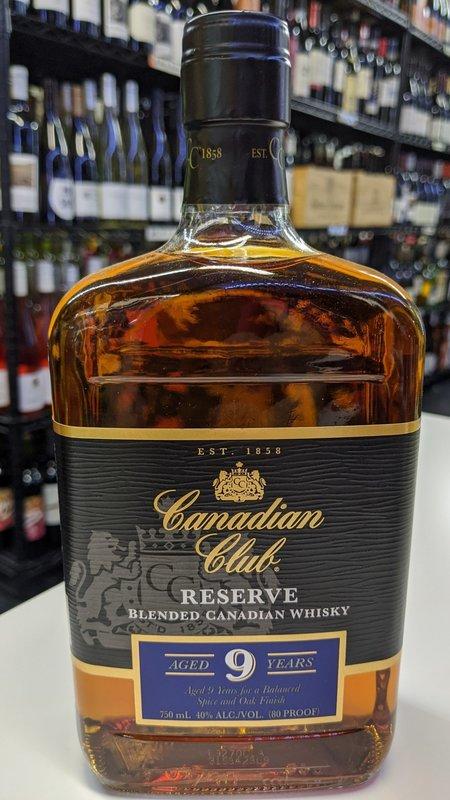 Canadian Club Canadian Club 9Y Reserve Canadian Whisky 750ml
