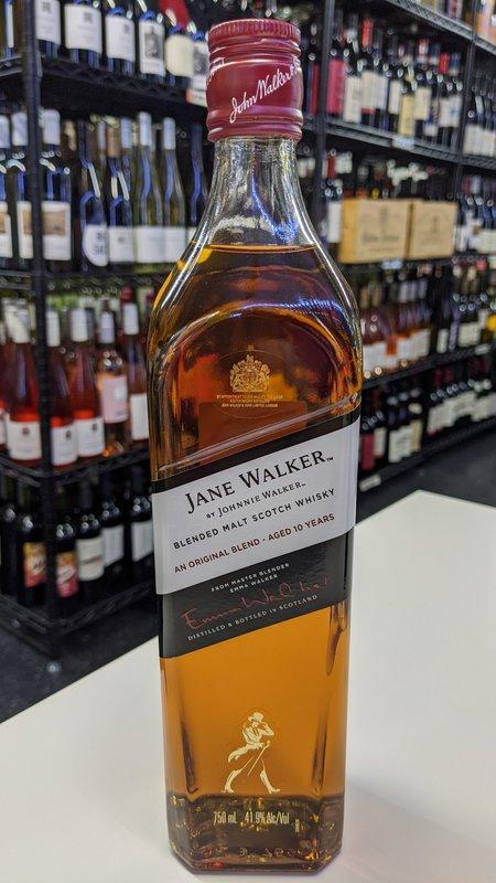 Johnnie Walker Jane Walker 10Y Black Label  Scotch 750ml