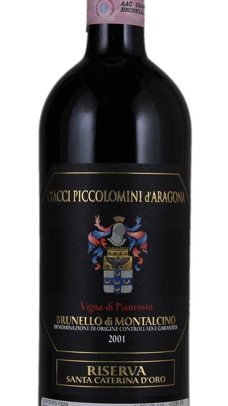 Ciacci Piccolomini d'Aragona Ciacci Piccolomini d'Aragona 'Vigna di Pianrosso Santa Caterina d'Oro' 2001 750ml
