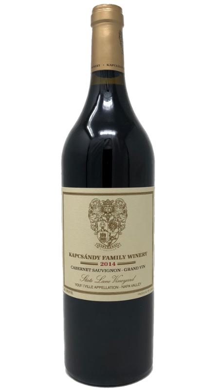 Kapcsandy Family Winery Kapcsandy Family Winery State Lane Vineyard Grand-Vin  Cabernet Sauvignon 2014 750ml