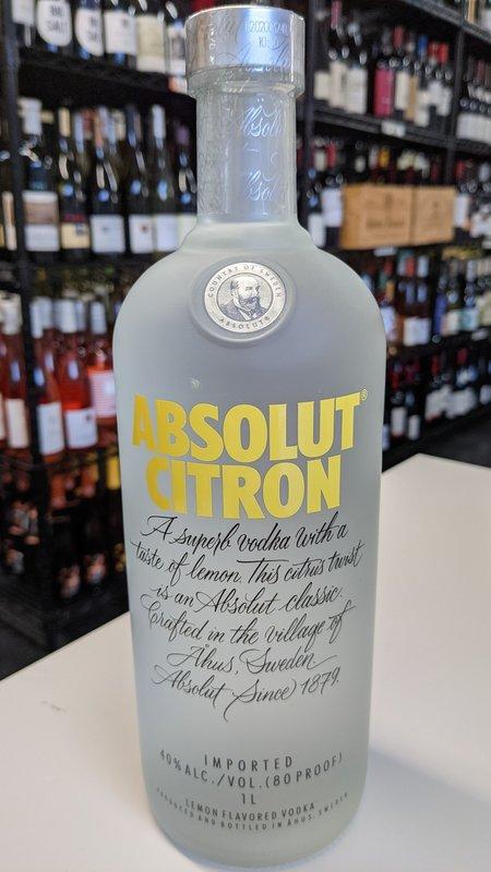 Absolut Absolute Citron 750ml
