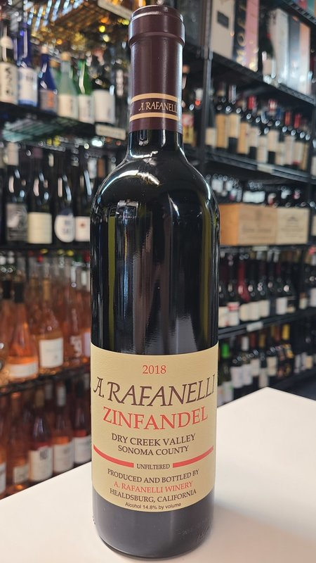 A. Rafanell A. Rafanelli Dry Creek Valley Zinfandel 2018 750ml