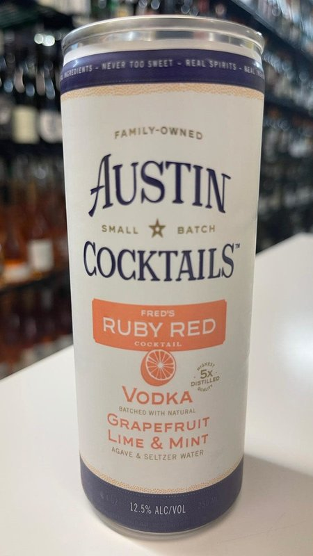 Austin Cocktails Austin Cocktails Sparkling Fred's Ruby Red Cocktail Can 250ml