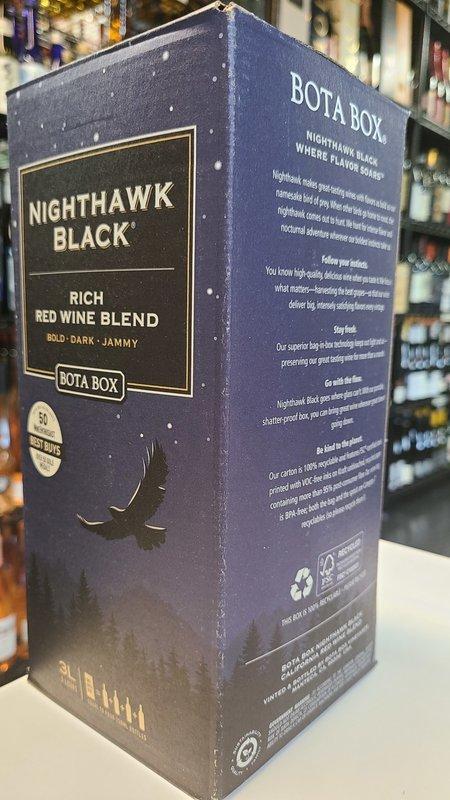 Bota Box Bota Box Nighthawk Black Red Wine 3L