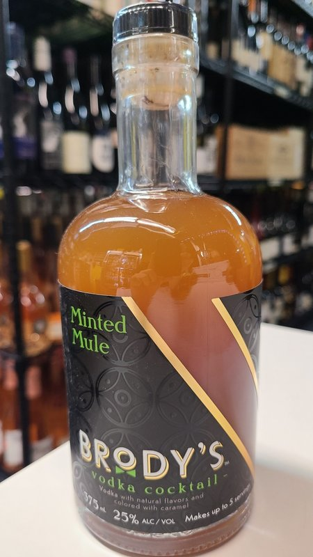 Brody's Craft Cocktails Minted Mule Vodka 375ml