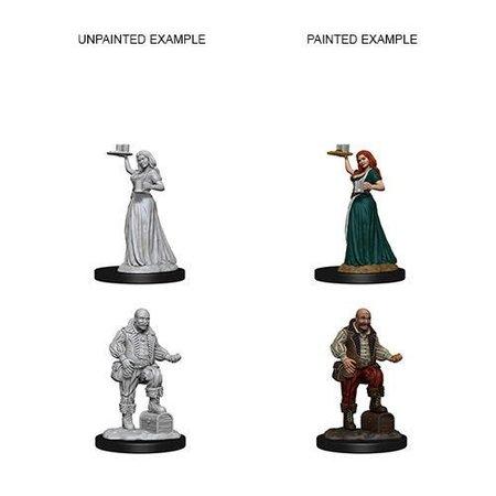 Pathfinder Battles Unpainted Minis - Merchants/Serving Girls