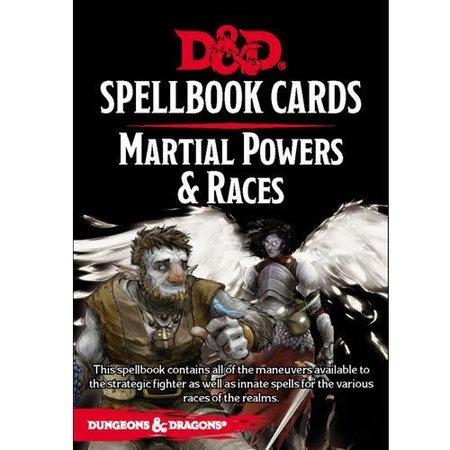Updated Spellbook Cards - Martial Powers & Races Deck