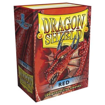 Dragon Shield - 63mm X 88mm Standard Classic - Red 100 ct.