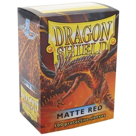 Dragon Shield - 63mm X 88mm Standard Matte - Red 100 ct.