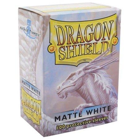 Dragon Shield - 63mm X 88mm Standard Matte - White 100 ct.