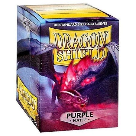 Dragon Shield - 63mm X 88mm Standard Matte - Purple 100 ct.
