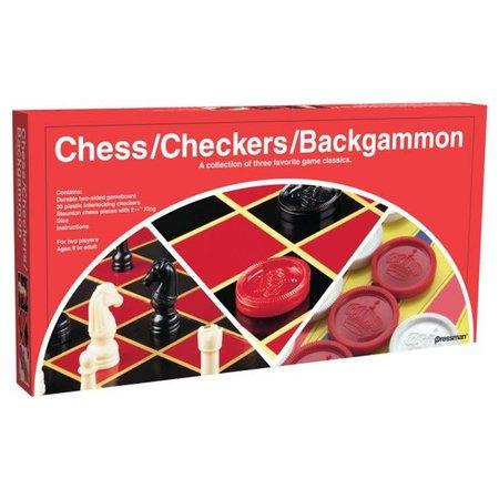 3-in-1 Chess / Checkers / Backgammon