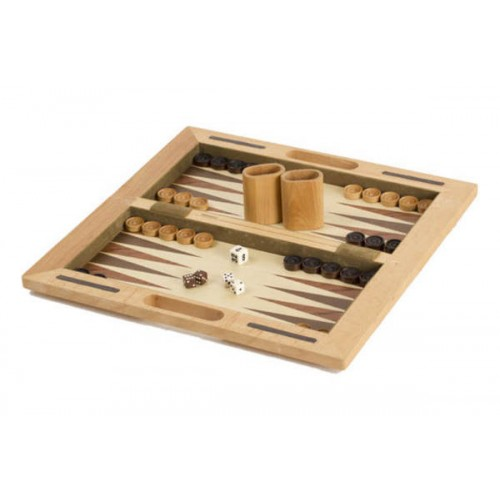 "3-in-1 Deluxe Wooden Chess Checker and Backgammon Game Set 16"" (CH2144A)"