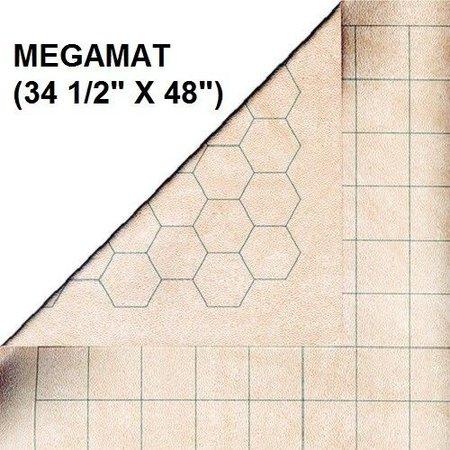 Battlemat Megamat 1'' Hex & Square Reversible 34.5'' x 48'' (CHX 97246)