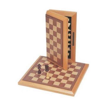 "Chess - 12"" Folding Oak Set"