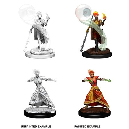 D&D Unpainted Minis - Fire Genasi Wizard (Female)