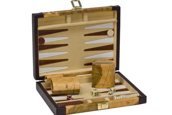 "Backgammon - 9"" Brown Map"