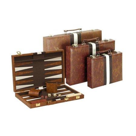 "Backgammon - 15"" Brown w/Stripes"