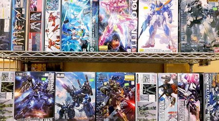 Gundam model kits from Bandai