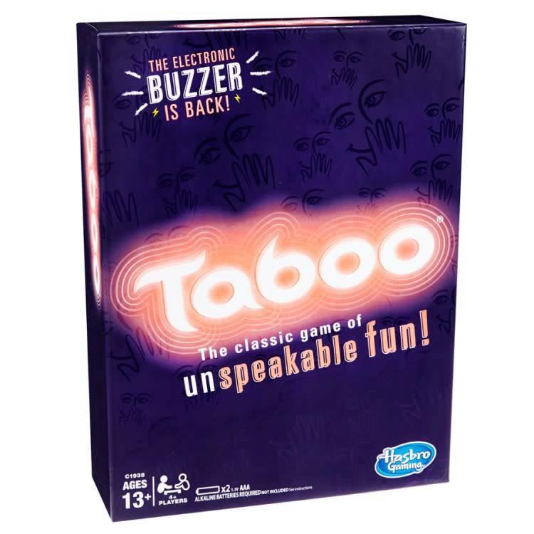 Taboo card game