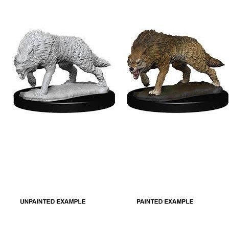 Pathfinder Battles Unpainted Minis - Timber Wolves