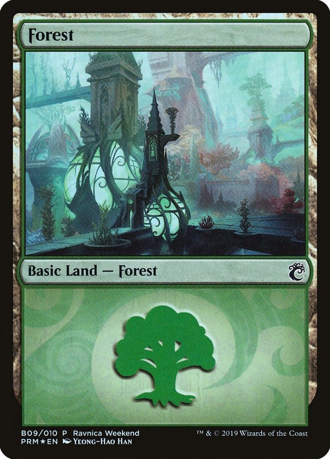 Forest (Ravnica Weekend A08 - Simic) - Foil