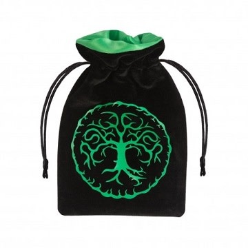 Dice Bag - Forest Black/Green Velour