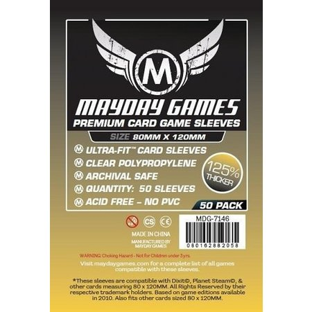 Mayday Games -  80mm X 120mm (Dixit Sized) Magnum Premium Sleeves 50 ct.
