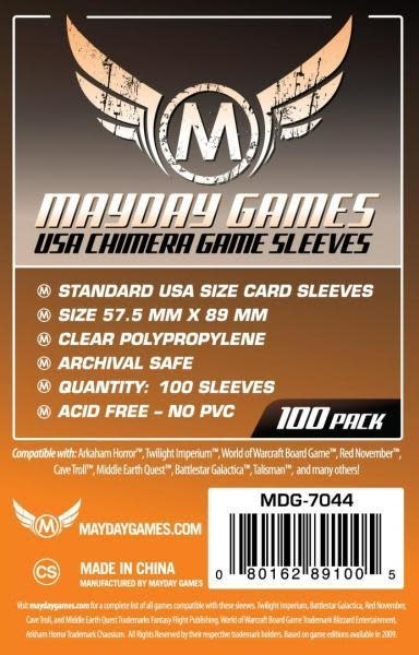 Mayday Games: USA Chimera Sleeves 57.5mm x 89mm 100ct