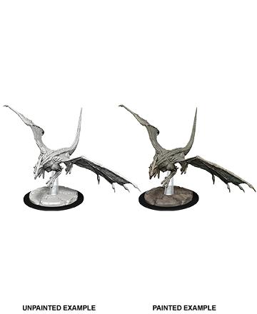 D&D Unpainted Minis - Young White Dragon